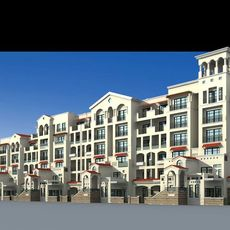 Architecture 154 multilayer Residential Building 3D Model
