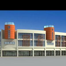 Architecture 159  Commercial Building 3D Model