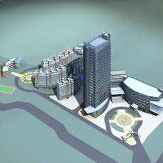 Architecture 163 office Building 3D Model
