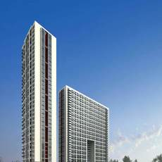 Architecture 165 High Rise Residential Building 3D Model