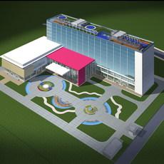 Architecture 166 office Building 3D Model