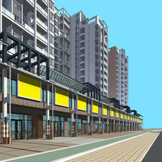 Architecture 170 High Rise Residential Building 3D Model
