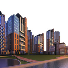 Architecture 171 High Rise Residential Building 3D Model