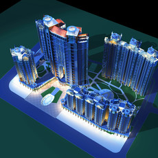 Architecture 172 High Rise Residential Building 3D Model