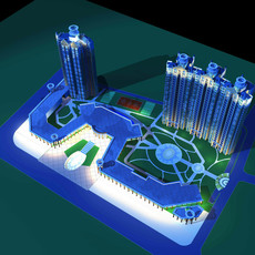 Architecture 173 High Rise Residential Building 3D Model