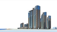 Architecture 175 High Rise Residential Building 3D Model