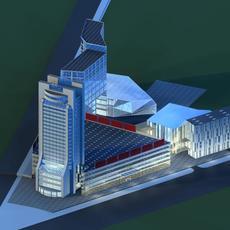 Architecture 177 office Building 3D Model