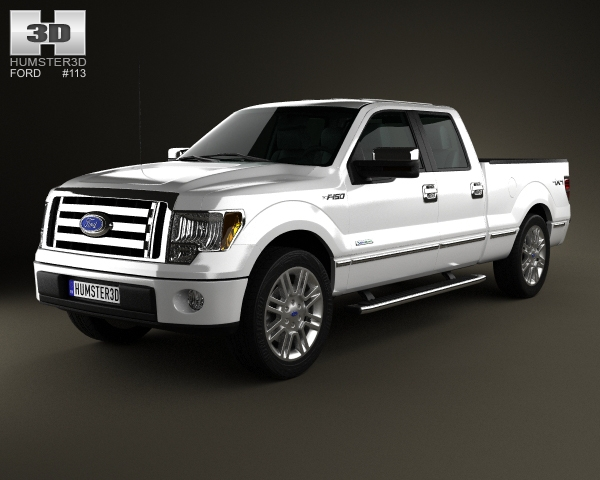 ford f 150 platinum super crew cab 2012 3d model. Black Bedroom Furniture Sets. Home Design Ideas