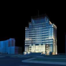 Architecture 181 Hotel Building 3D Model