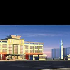 Architecture 182 office Building 3D Model