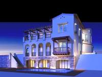 Architecture 184 multilayer Residential Building 3D Model
