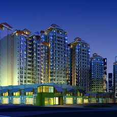 Architecture 195 High Rise Residential Building 3D Model