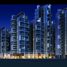 Architecture 203 High Rise Residential Building 3D Model