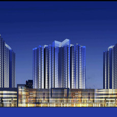 Architecture 205 High Rise Residential Building 3D Model