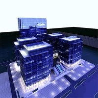 Architecture 213 office Building 3D Model
