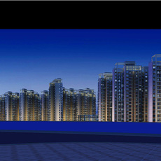 Architecture 214 High Rise Residential Building 3D Model