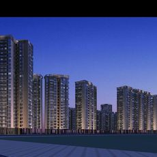 Architecture 225 High Rise Residential Building 3D Model