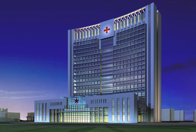 Architecture 228 Hospital Building 3D Model