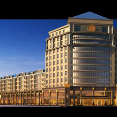 Architecture 239 Hotel Building 3D Model