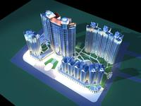 Architecture 240 High Rise Residential Building 3D Model