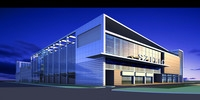 Architecture 250 Commercial Building 3D Model