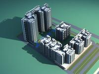 Architecture 263 High Rise Residential Building 3D Model