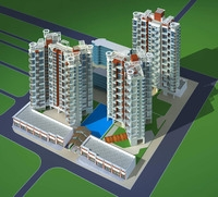 Architecture 265 High Rise Residential Building 3D Model