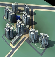 Architecture 274 High Rise Residential Building 3D Model