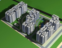Architecture 297 High Rise Residential Building 3D Model