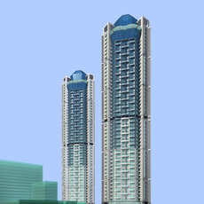 Architecture 305 High Rise Residential Building 3D Model