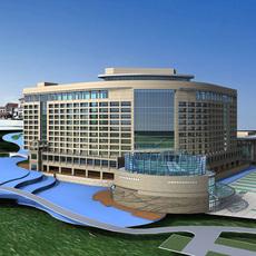 Architecture 306 Hotel Building 3D Model