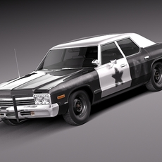 Dodge Monaco 1974 Bluesmobile 3D Model