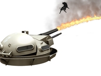Zippo Flamethrower Turret 3D Model
