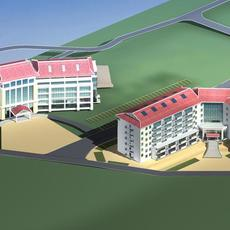 Architecture 310 Hotel Building 3D Model