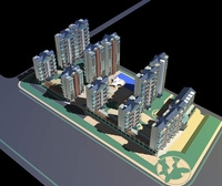 Architecture 314 High Rise Residential Building 3D Model