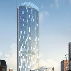 Architecture 019  -Office Skyscraper building 3D Model
