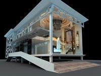 Architecture 324 office Building 3D Model