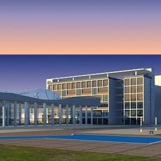 Architecture 204 office Building 3D Model