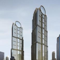 Architecture 020  -Office Skyscraper building 3D Model