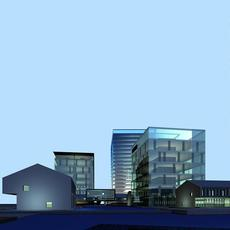Architecture 326 office Building 3D Model