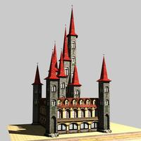 Architecture 329 Church Building 3D Model