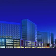 Architecture 330 office Building 3D Model