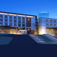 Architecture 334 Hotel Building 3D Model