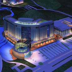 Architecture 335 Hotel Building 3D Model