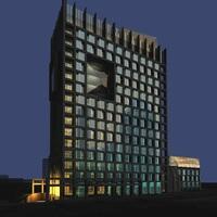 Architecture 338 Hotel Building 3D Model