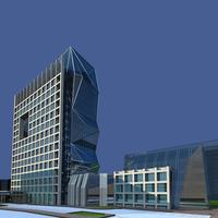 Architecture 339 office Building 3D Model