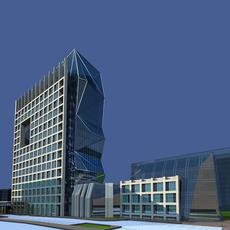 Architecture 339 office Building 3D Model