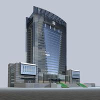 Architecture 340 office Building 3D Model