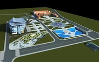 Architecture 343 Hotel Building 3D Model