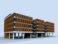 Architecture 346 office Building 3D Model